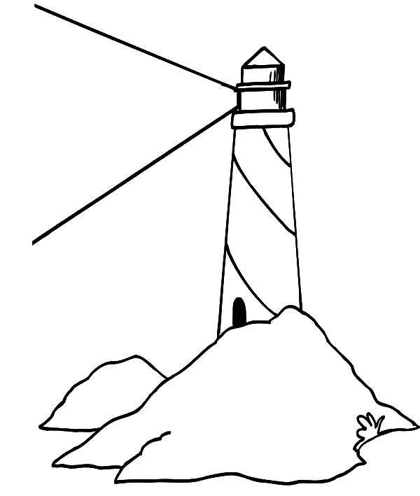 Lighthouse Bright Light Coloring Pages PagesFull Size Image