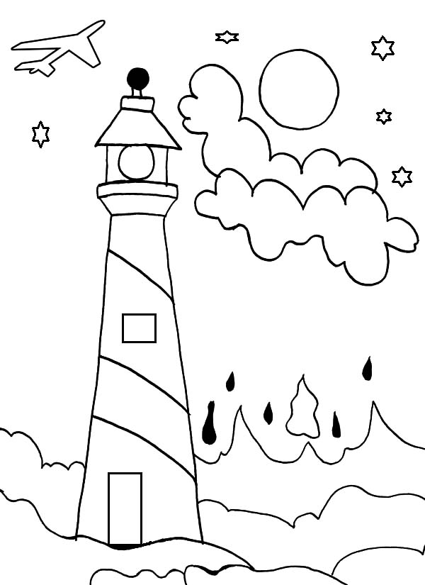 Lighthouse Coloring Pages - Download & Print Online ...