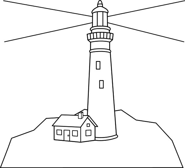 lighthouse shine in the dark coloring pages