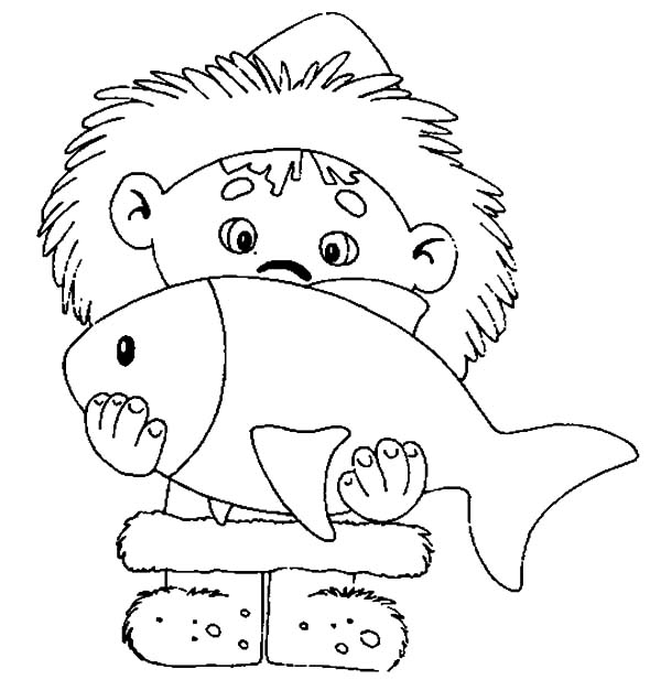 Little Eskimo Girl Coloring Pages