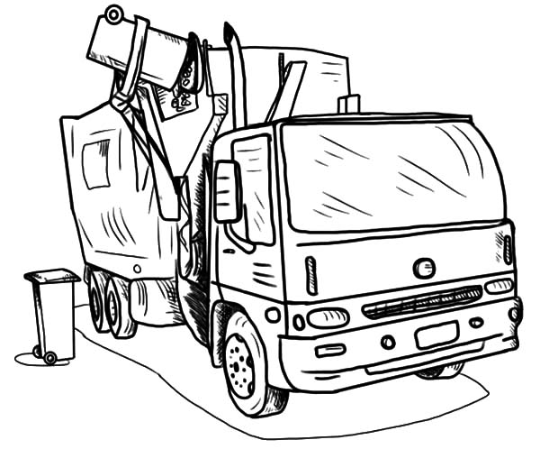 Loading Garbage Truck Coloring