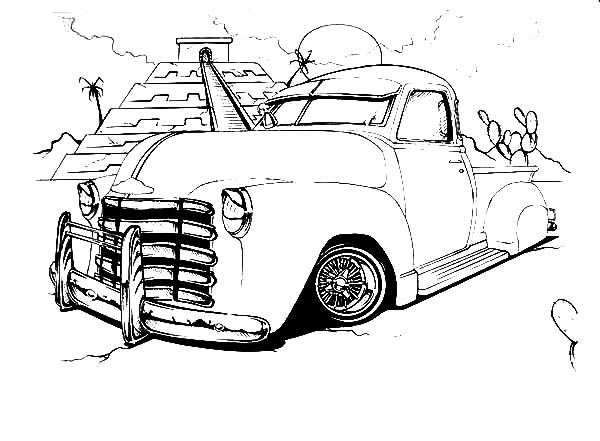 Lowrider Cars in Peru Coloring Pages