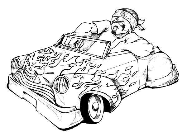 lowrider cars lowrider cars on fire coloring pages lowrider cars on fire coloring pagesfull - Fire Coloring Pages
