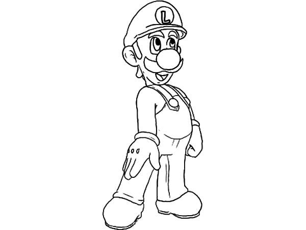 Luigi Doing Tango Dance Coloring Pages