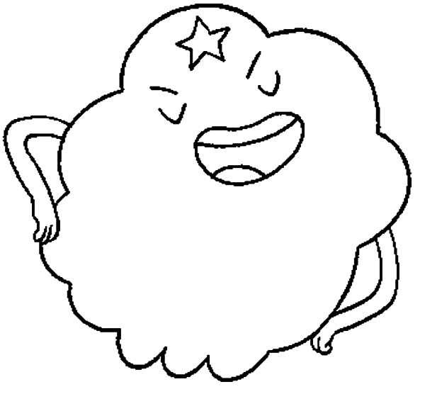 Lumpy Space Princess Explaining Something Coloring Pages