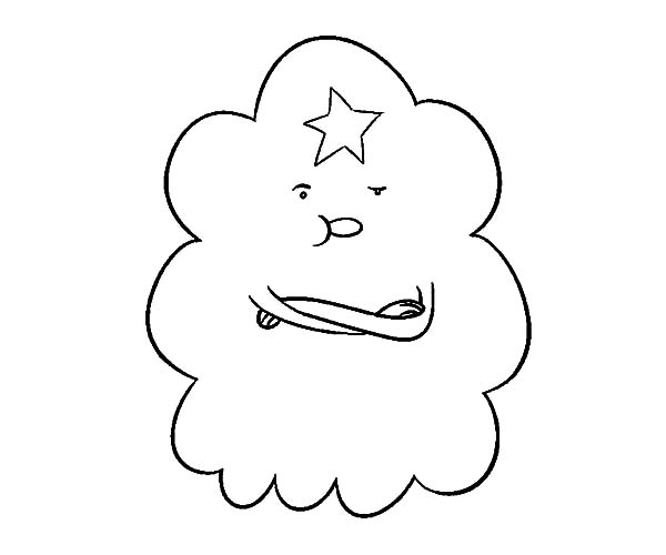 Lumpy Space Princess Feeling Cocky Coloring Pages Lumpy Space Princess Coloring Pages Printable