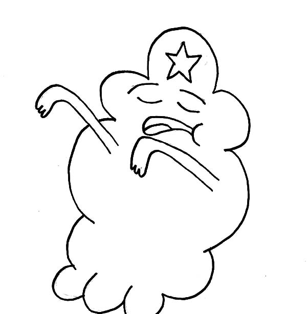 Lumpy Space Princess Nevermind Coloring Pages