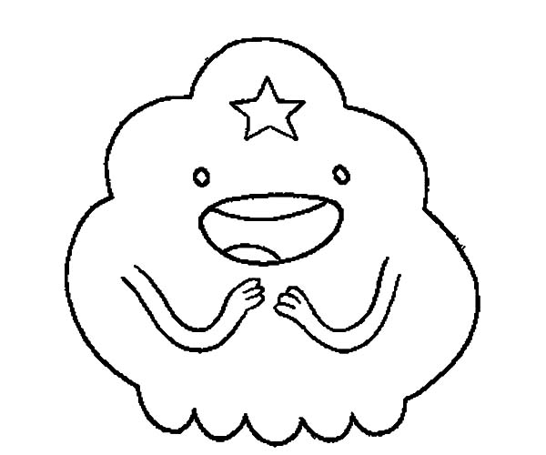 Lumpy Space Princess Is Amazed Coloring Pages Download Lumpy Space Princess Coloring Pages Printable