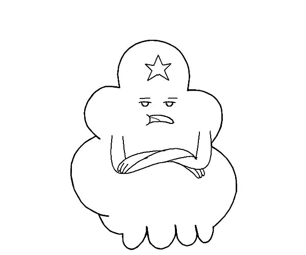 Lumpy Space Princess is Not Impressed Coloring Pages