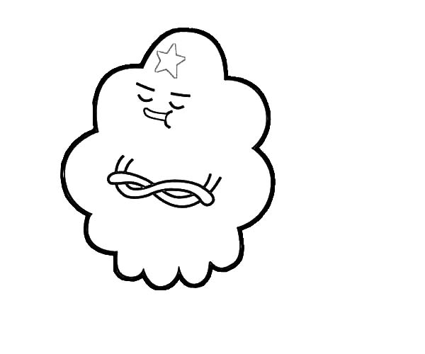 Lumpy Space Princess is in Bad Mood Coloring Pages