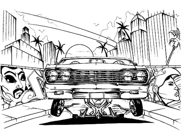 lowrider cars show coloring pages lowrider cars show coloring