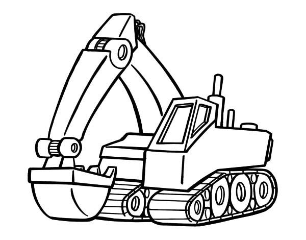mining equipment coloring pages - photo#18