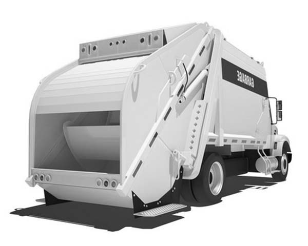 Garbage Truck, : Modern Garbage Truck Coloring Pages