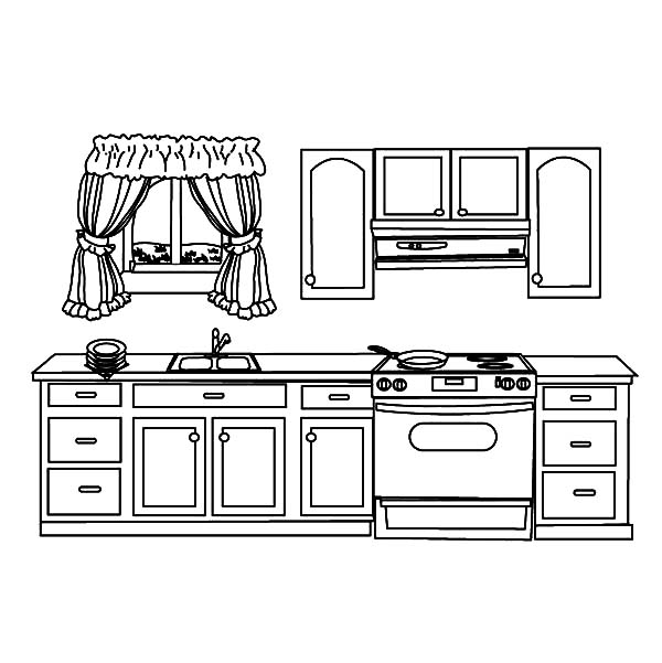 My House Kitchen Coloring Pages Download Print Online