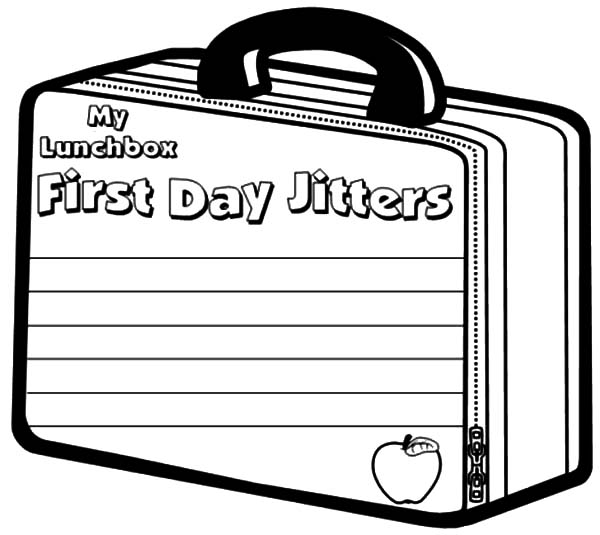 first day jitters coloring page my lunchbox first day jitters coloring pages download