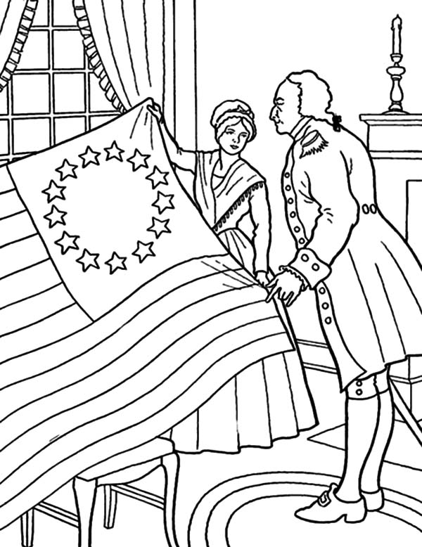 Prepare for Flag Day Coloring Pages