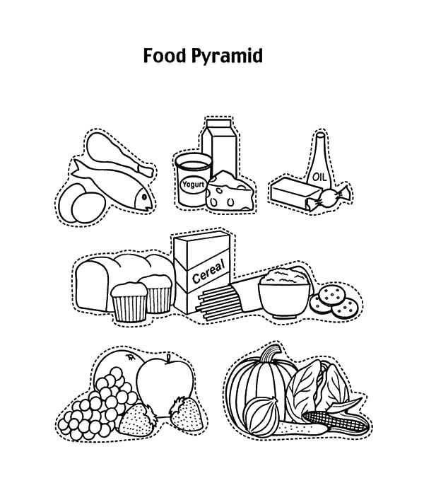 Preschooler Food Pyramid Coloring Pages Download Print Online