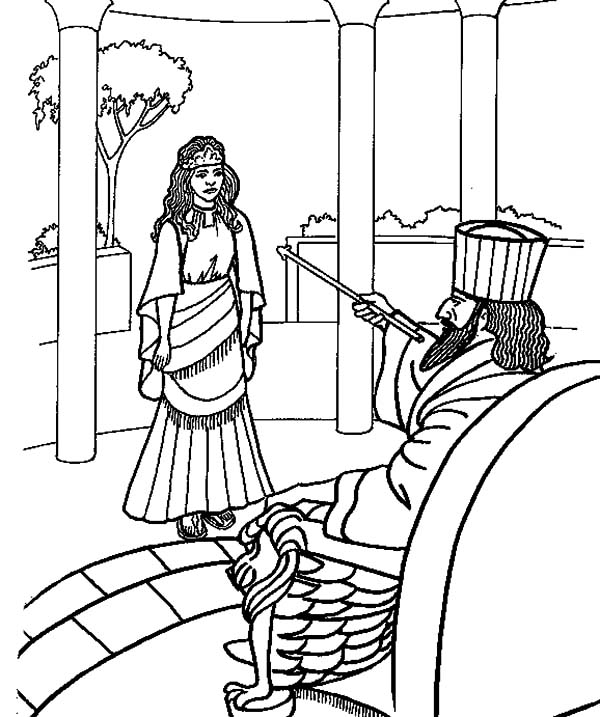 Esther Queen Accept Kings Order Coloring Pages