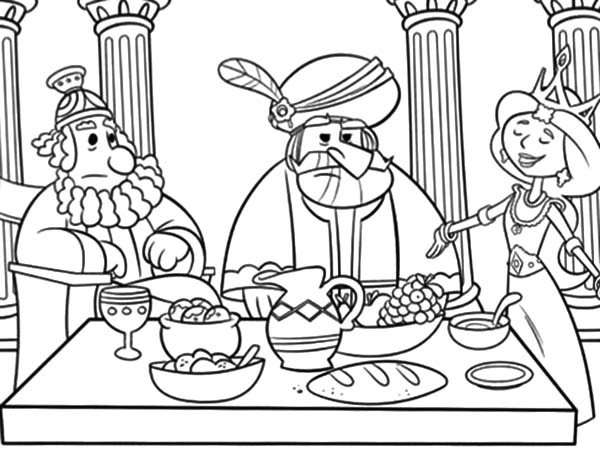 queen esther prepare dinner coloring pages
