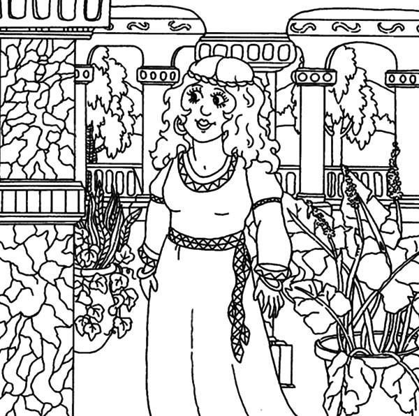 Queen Esther Take a Tour in Palace Coloring Pages: Queen Esther ...