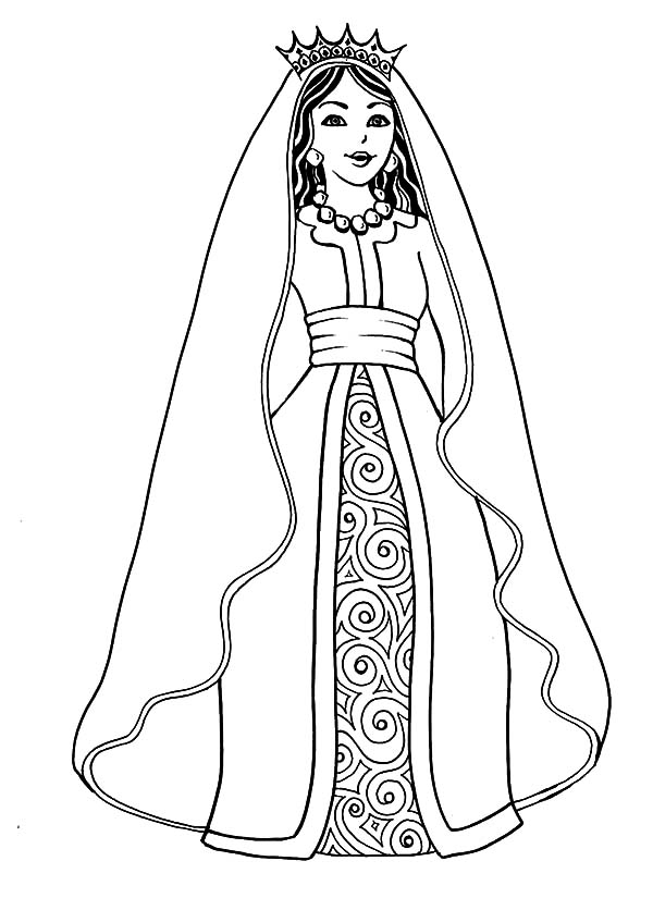 esther queen esther the of persia coloring pages - Esther Bible Story Coloring Pages