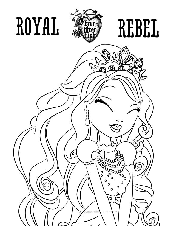Royal Rebel Ever After High Coloring Pages - Download & Print ...