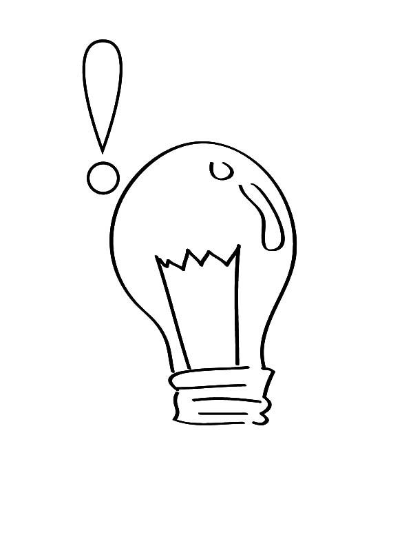 Science Light Bulb Coloring Pages