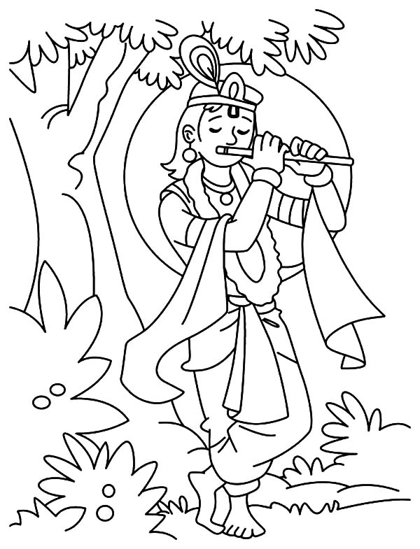 Krishna Butter Lover Coloring Pages Krishna Butter Lover Coloring