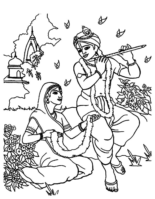 Music notes smile coloring page download print online for Coloring pages of krishna
