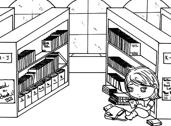 Library Book Care Coloring Pages Coloring Pages
