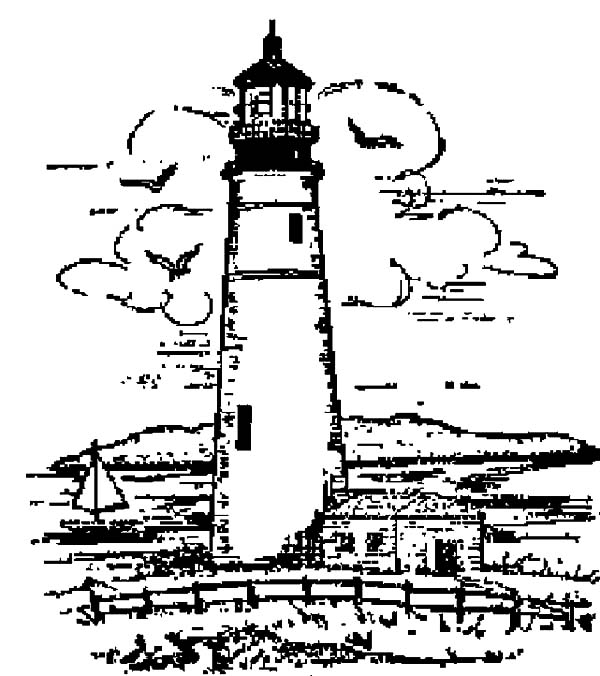 Lighthouse Sketch Of Coloring Pages
