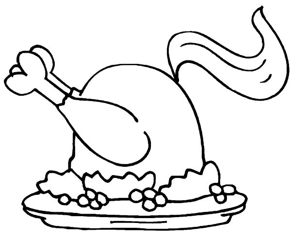 Spicy Fried Chicken Coloring Pages