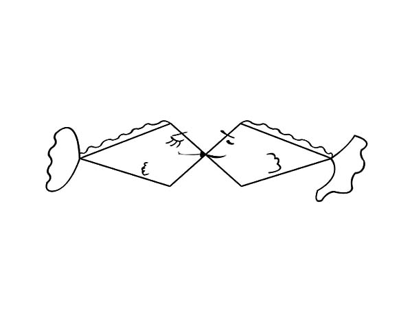 fishes kissing coloring pages - photo#31