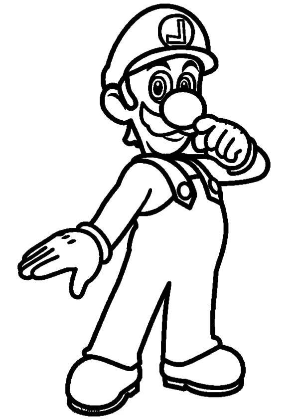 Super luigi coloring pages