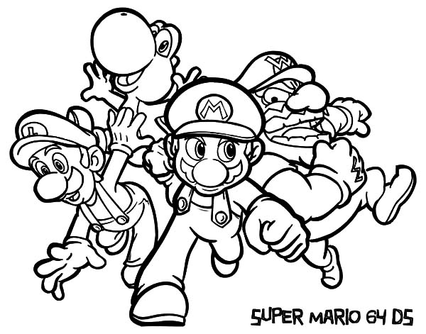 Luigi Super Mario And Coloring Pages