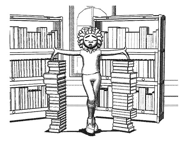 cartoon school house 1551868 coloring page of library