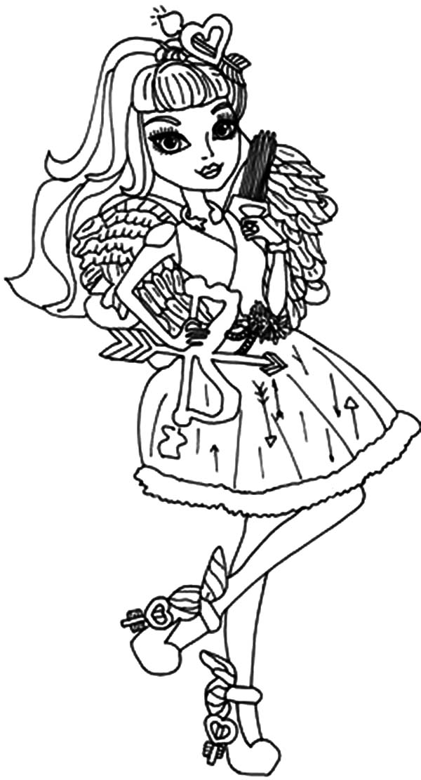 ever after high the famous cupid ever in after high coloring pages the famous