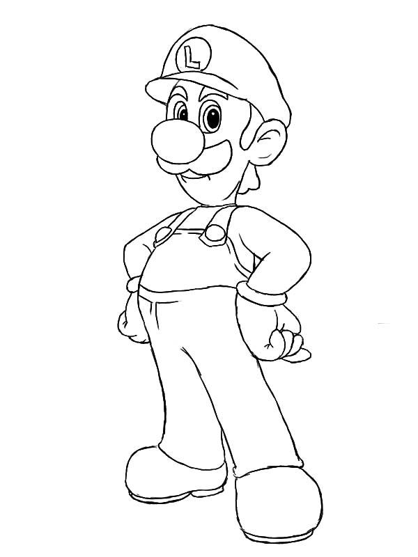 coloring pages luigi | The Famous Luigi Coloring Pages - Download & Print Online ...
