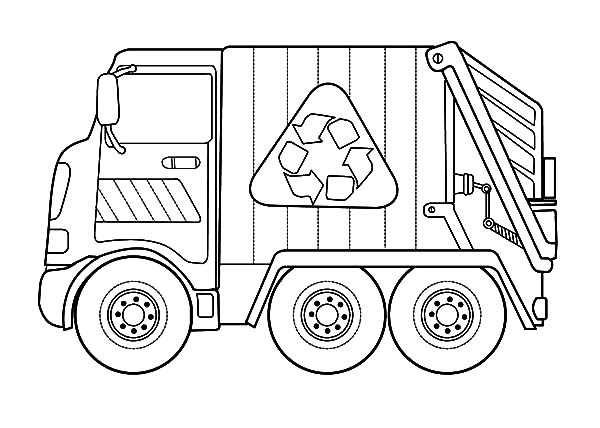 free garbarge truck coloring pages - photo#16