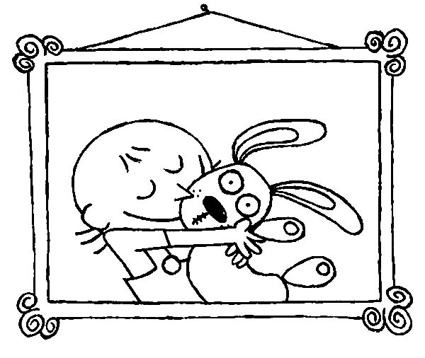Trixie Love Her Knuffle Bunny Coloring Pages Trixie Love Her