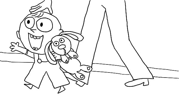 Trixie and Her Bestfriend Knuffle Bunny Coloring Pages Download