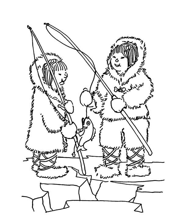 Download online coloring pages for free part 14 for Eskimo coloring page