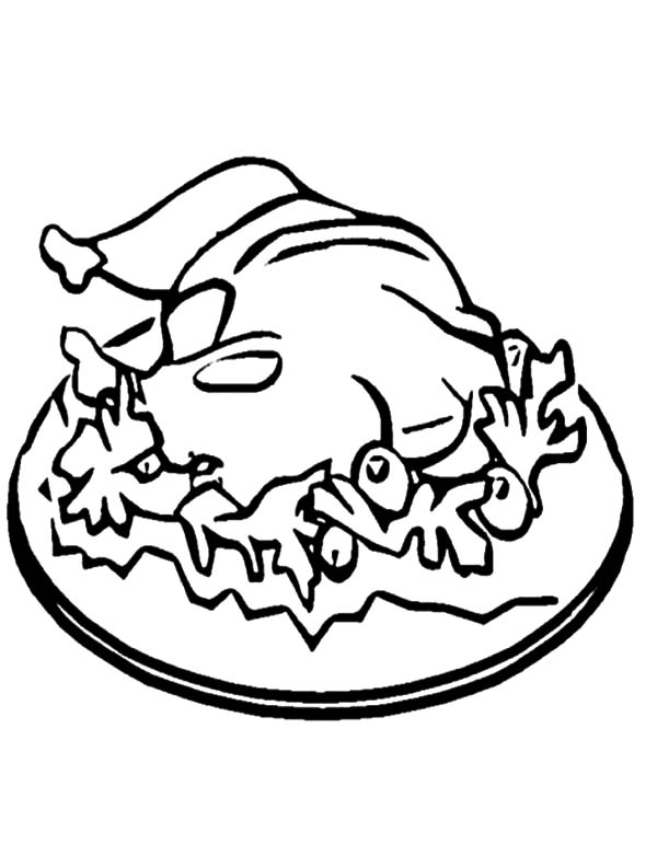 Warm Fried Chicken Coloring Pages - Download & Print Online Coloring ...