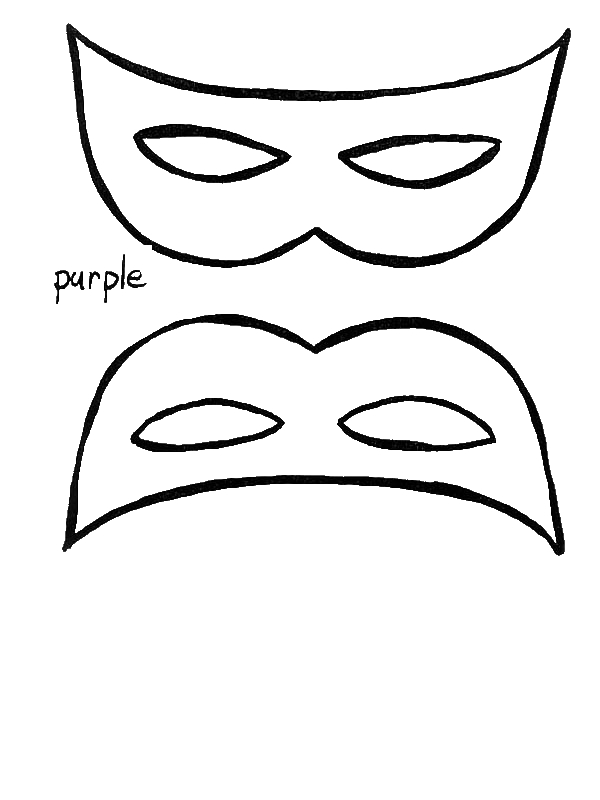 A Simple Mardi Gras Mask To Wear Coloring Page By Years Old