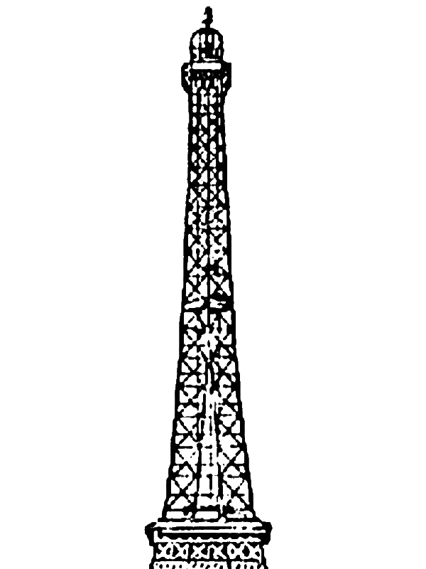 Amazing Eiffel Tower Coloring Page Download Print Online