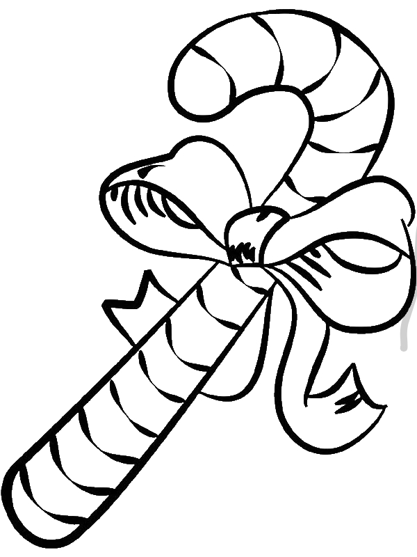 Big Candy Cane Coloring Page Download Print Online Coloring