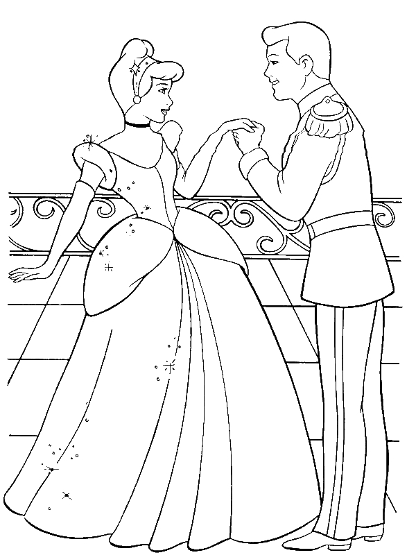 prince charming cinderella coloring pages - photo#7