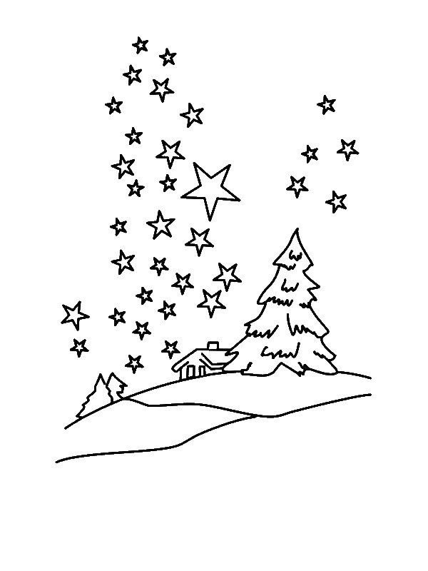 Clear Winter Night Sky With Million Of Stars Coloring Page By Years Old