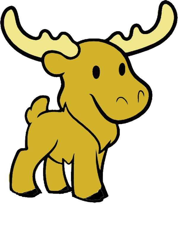 Cute Moose Coloring Page Download Amp Print Online