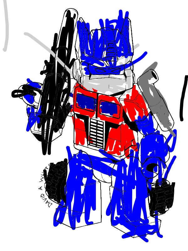 Cute Optimus Prime of Trasformers Coloring Page Download Print